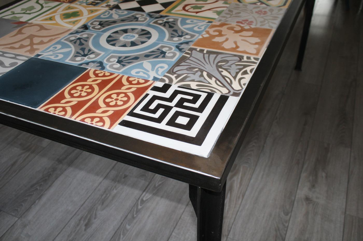 table mosa que carreaux de ciment d tail 47 13 39 nantes. Black Bedroom Furniture Sets. Home Design Ideas