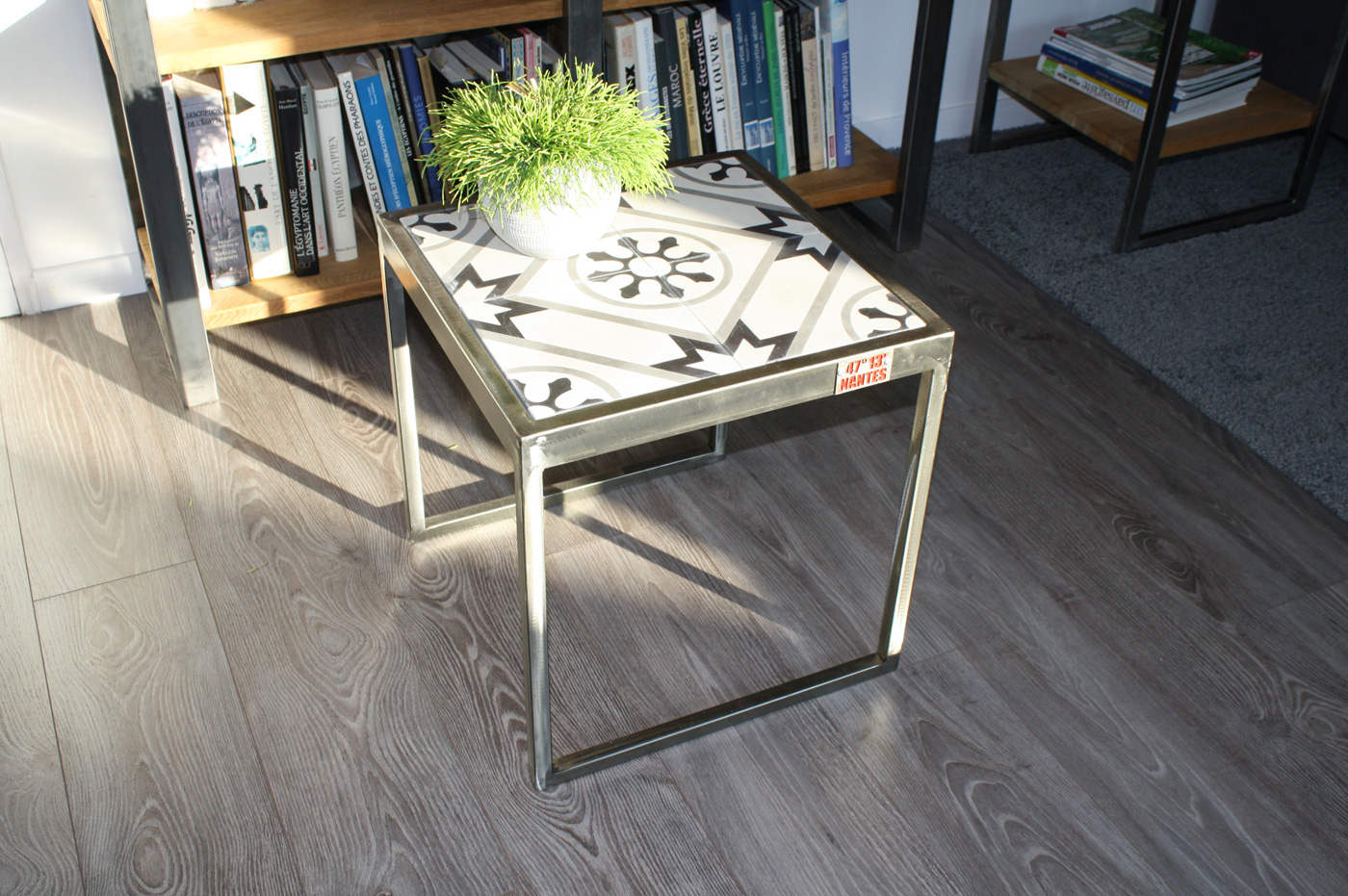 Table base carreaux de ciment