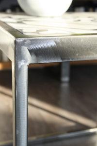 Table base carreaux de ciment - détail
