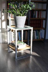 Table verre bois
